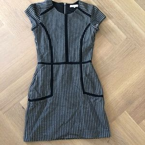 Parker Black and White Check dress